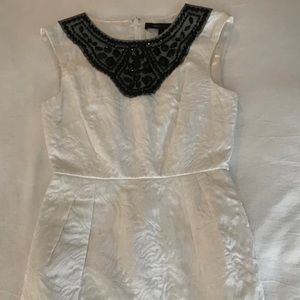 BCBG MaxAzria White Mini Dress Size 2